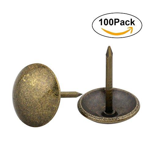 Yasorn Antique Polsterung Tack Nail Dekorative Möbel DIY Nailhead (Bronze, Satz von 100 Stück) (Bronze-metall-bett-satz)