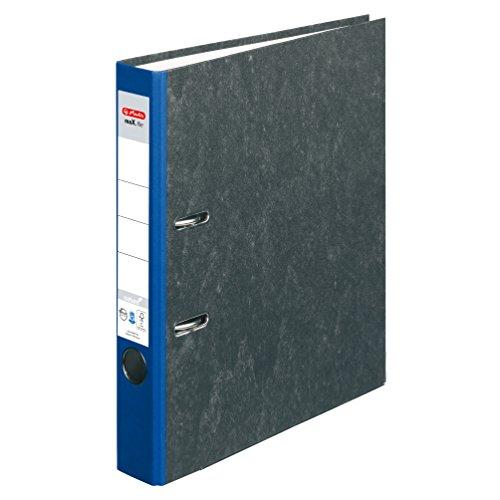 Herlitz Ordner maX.file nature, Pappe, Wolkenmarmorbezug, Kantenschutz, standfest, A4 5 cm, blau
