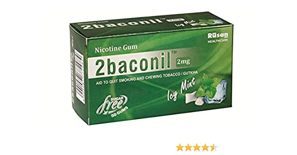 Buy Rusan Healthcare Pvt Ltd 2Baconil Nicotine Gum ( Five