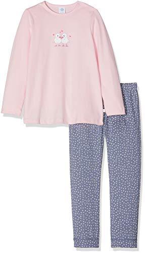 Sanetta Baby-Mädchen Zweiteiliger Schlafanzug Pyjama Long, Pink (Magnolie 3609.0), 86