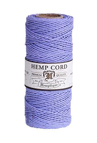 50 g Hemptique Bobine de ficelle de chanvre Bleu