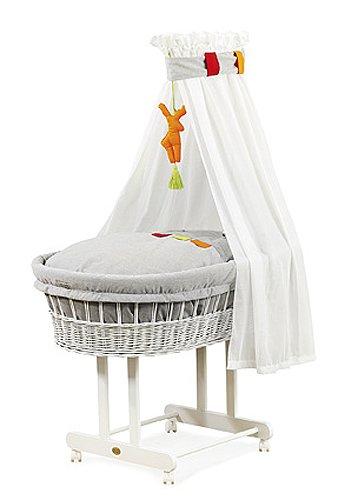 """Preisvergleich Produktbild Christiane Wegner 9019 02-100 - Stubenwagen """"Maxi"""" mit großer Liegefläche, Schwenkräder, behagliche Schlafumgebung für das Baby, Mobilität für die Eltern  83 x 43 cm"""