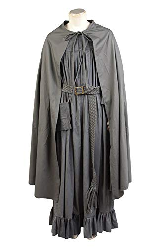 Ya-cos Herren Kostüm The Fellowship of The Ring Gandalf Cosplay Kostüm Bademantel grau/braun - Grau - Medium