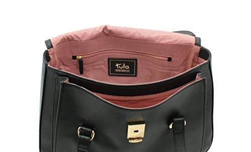Tula , Sac pour femme à porter à l'épaule, Brun (Marron) - 8154 noir