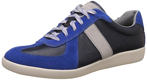 Hush Puppies Men's Roke Hitch Blue Leather Sneakers - 8 UK/India (42 EU)(8249102)