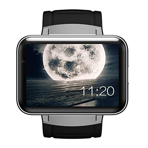 ZXJWH Smart Watch, 3G-Netzwerk-Kommunikation WiFi Touchscreen Bluetooth GPS Scratch Resistant Sport Heart Rate Monitor Waterproof Fitness Activity Tracker für iPhone und Android,A2 -