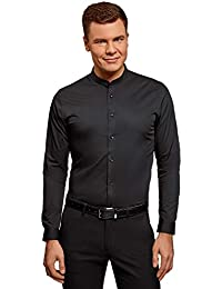 e565784f02a45 Amazon.es  Camisa negra - Cuello mao   Camisas   Camisetas