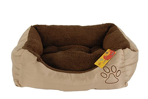 Perro Gato Cachorro Mascota Cama Tamaño XS suave marrón