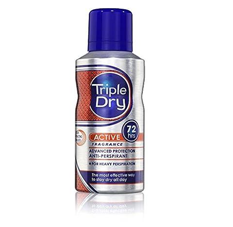 Triple 150ml Dry Men Active Protection Anti-Perspirant Spray