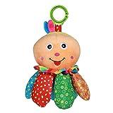 Toyvian Kinderwagen Spielzeug mit Beißring Kleinkindspielzeug Baby Autositz Spielzeug zum Aufhängen Greifen Beißen Spielen und Quietschen Zahnen Spielzeug