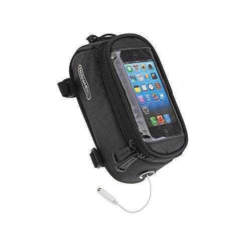 Roswheel Borsa /custodia touch screen bicicletta Ciclismo anteriore per bicicletta telaio in tubo superiore sacchetto in PVC trasparente con la linea di estensione audio per 5.5/4.8/4.2cellulare smartphone apple iphone 3 - 4 - 4S - 5 -6 -6plus ipod touch 1.7L (nero 4.2 pollice)