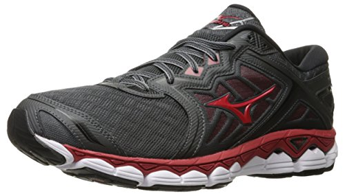 Mizuno MizunoMizuno Men's Wave Sky Running Shoes Wave Sky Scarpe da Corsa da Uomo da Uomo, Nero (Iron Gate/Red/Black), 40 EU