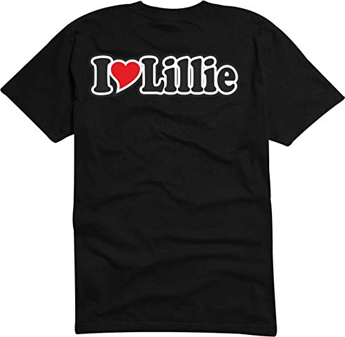 Black Dragon T-Shirt Herren/Mann schwarz - Ich Liebe mit Herz (Name) - Fasching - Party - Funshirt - I Love Lillies