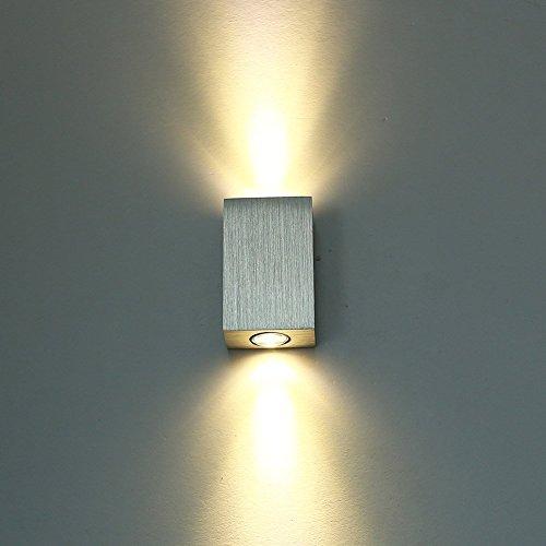 Deckey 6W Lampada Da Parete A LED Applique Lampada Da Muro In Alluminio Verniciabile Decorabile Luce LED Up And Down 2700K Illuminazione Da Interno Bianco Caldo (1