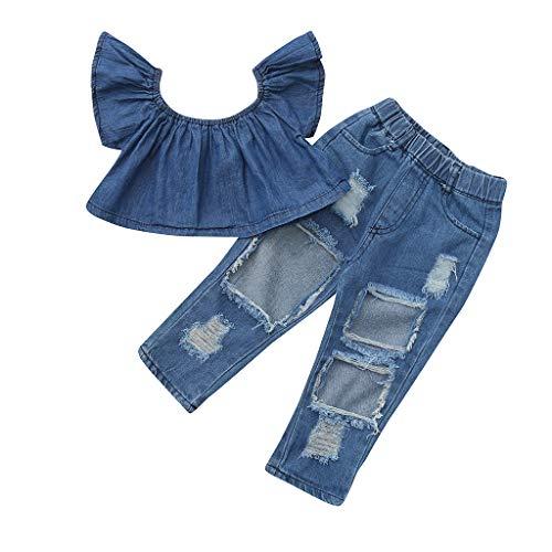 Kinderkleidung Yanhoo Kleinkind Baby Mädchenärmellose Oberteile mit Blumendruck + Geraffte Shorts Mädchen Plush Vest Top Punkt Shorts 2 Stücke -