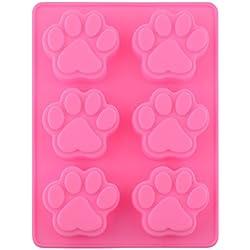 Dulce encantador de múltiples funciones de la pata del perro de silicona del molde del cubo de hielo de la torta del jabón molde de la hornada de la cocina Accessoriess