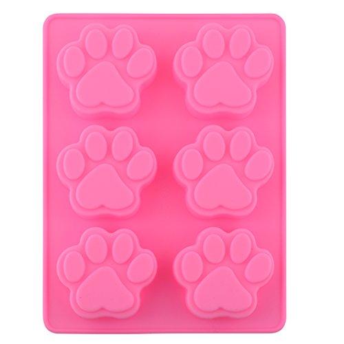 Reizender süßer Multifunktionshundetatzen Silikon Form Eis Würfel Kuchen Seifen Backen Form Küche Accessoriess -