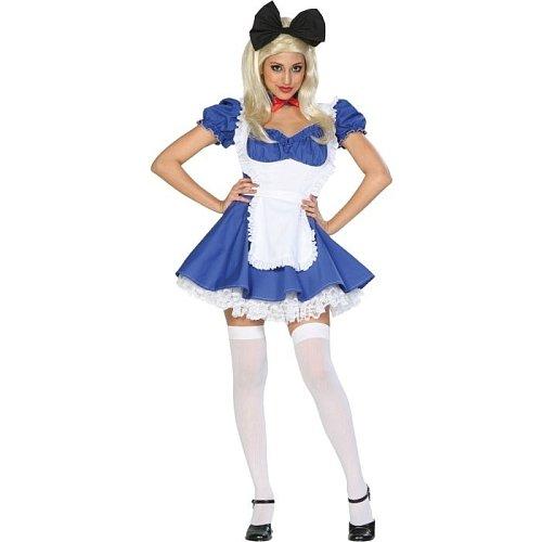 Alice In Costume Wonderland Lapin - Alice Of Wonderland Adult Costume Extra