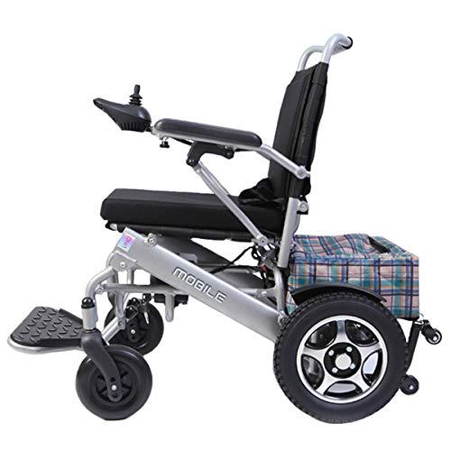 Exklusiver Leichtgewicht-Falt-Rollstuhl, Aerospace Aluminum Crafted Design, Heavy Duty, Long Range, Dual Powerful Motor Electric Wheelchair (Free Travel Case),Battery*2 - Electric Range