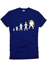 GIOVANI & RICCHI Herren So ngoku Vegeta Fitness Shirt T-Shirt Super Saiyajin Evolution in verschiedenen Farben