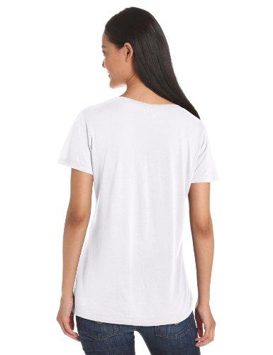Splendid Damen T-Shirt Very Light Jersey SL V-Neck Weiß