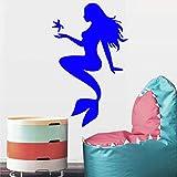 nkfrjz Art Sea-Maid pour Filles Bedroom Décoration Mode Autocollant Mural...