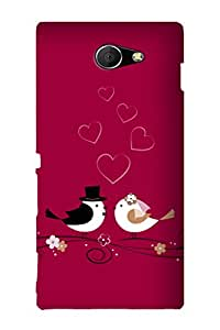 ZAPCASE Printed Back Case for SONY XPERIA M2