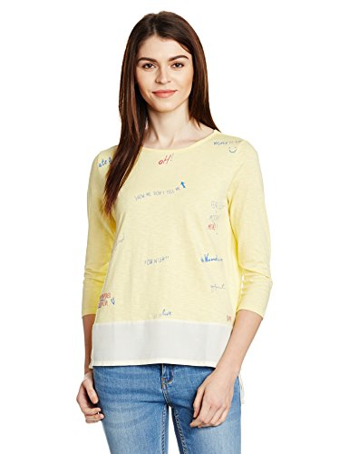 People Women's Tunic Top (P20401096384512_Sun Baked Yellow 12-0721 Tpx_S)  available at amazon for Rs.299