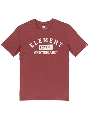 Herren T-Shirt Element For Life T-Shirt oxblood red