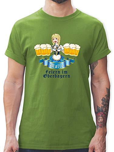Kostüm Spanien Lady - Urlaub - Malle Bier Oberbayern - XL - Hellgrün - L190 - Herren T-Shirt und Männer Tshirt