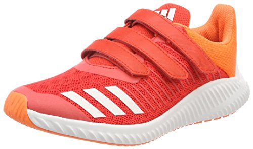 adidas Unisex-Kinder Fortarun Cloudfoam Gymnastikschuhe, Mehrfarbig Red S18/ftwr White/hi-Res Orange S18, 33 EU