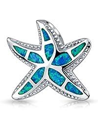 Bling Jewelry Ópalo Azul Colgante Estrella Náutica Hawaiian Joyería Plata Esterlina 925