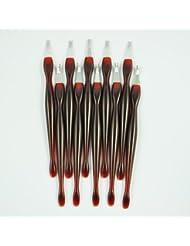 TOOGOO(R) 10 X coupe-cuticules/outil de la cuticule pour l'art d'ongle pour pedicure manucure