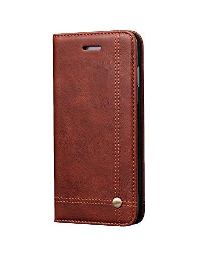 LaoZan Apple iPhone Étui Folio en Cuir PU, Cover Coque Porte Cartes avec Support, Flip Cover Housse De Protection