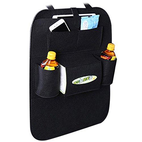 Ternly Standard-Aufbewahrungstasche für Autositz, mehrere Taschen, Reisetasche mit 2 USB-Ladegeräten, Handyaufbewahrung, Filz und Rücksitzschutz, Autozubehör