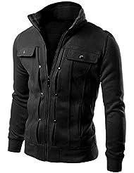 Anywa chaquetas para hombre invierno abrigos de Capa delgada de la solapa Cardigan Diseñado