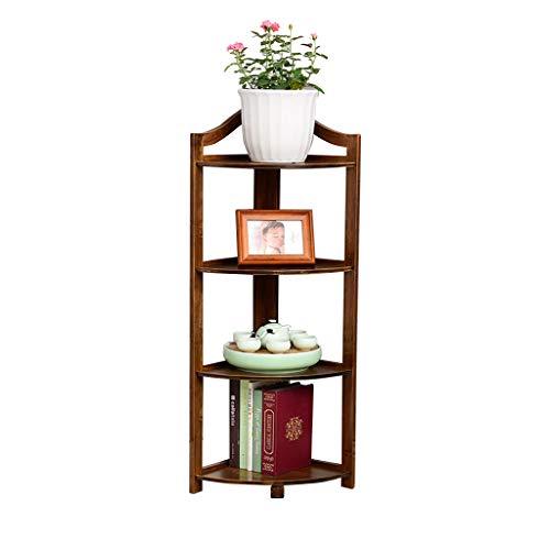 X.flower display stand XZGang Coin Plante Coin, Étagère Bambou Poli Bambou Naturel Grain Salon Chambre Bureau Plantes en Pot Étagère de Pot de Plante (Taille : 43 * 93cm)
