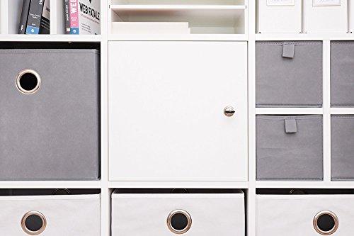 INWONA Abschließbare Tür für IKEA Kallax Regal Schließsystem: verschiedenschließend/Kallax Tür mit Schloß und Rückwand in weiß - ideal für Lehrerzimmer Arbeitszimmer Kindersicherung
