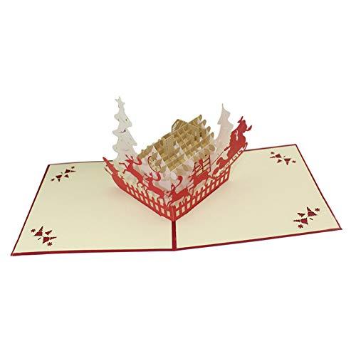 Holz-Steckmotiv 3D Weihnachtsmann