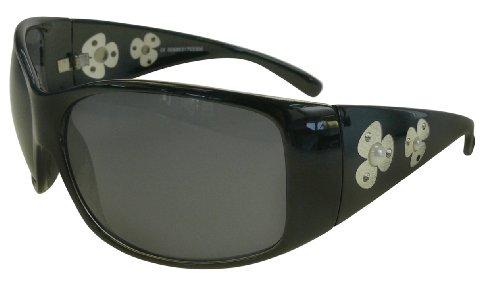 Sonnenbrille 9052fl Blümchen schwarz
