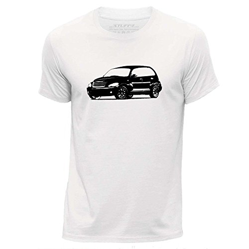 stuff4-hommes-xx-grande-xxl-blanc-col-rond-t-shirt-stencil-art-de-voiture-pt-cruiser