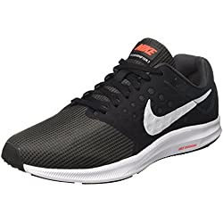 Nike Downshifter 7, Zapatillas de Running para Hombre, Gris (Anthracite/Pure Platinum/Black/Bright Crimson), 44.5 EU