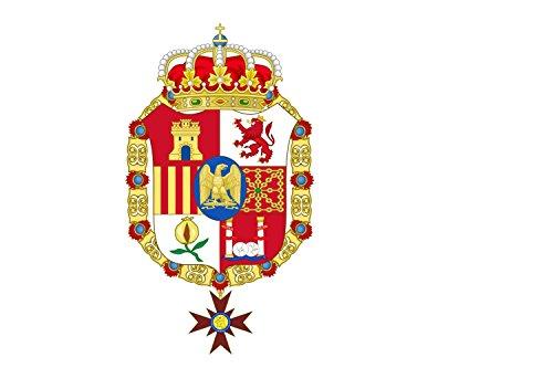 magFlags Bandiera Large España 1808-1813 | L Espagne sous Joseph Bonaparte | Desde su creación la Bandera nacional ha sufrido una serie de modificaciones tales como Por Decreto de 12 de