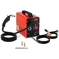 Stamos Germany Poste À Souder MIG/MAG FCAW sans gaz S-MAG 120 FL (40-120 A, Dévidoir Et Câbles Intégrés, Fil Fourré Flux 0,8-0,9 mm)