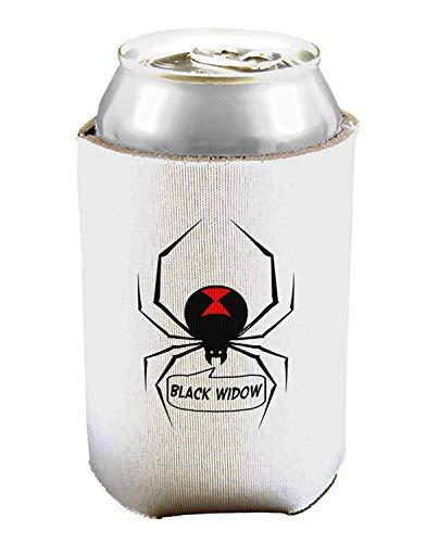 Black Widow Spinnen-Design – Text Bierdosen-Kühlhüllenhalter – 1 Stück
