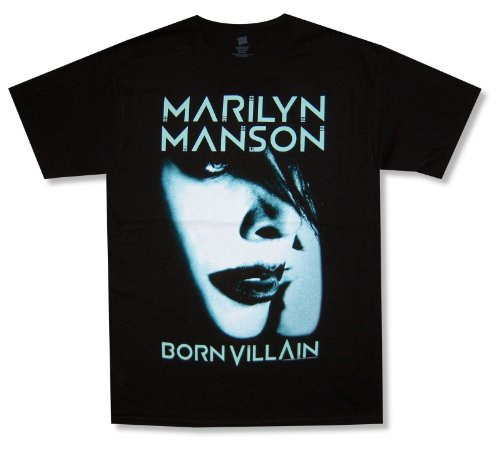 Bravado Adult Marilyn Manson Born Villain Album Cover Tour 2013 Schwarzes T-Shirt (X-Large) (T-shirt Album-cover Adult)