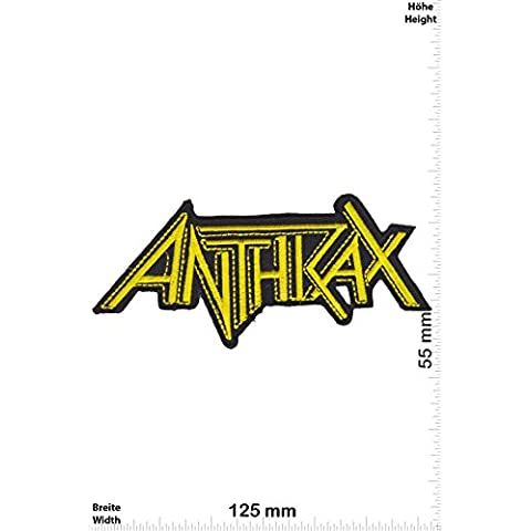 Patch - Anthrax - yellow -Metal-Band - Musicpatch - Rock - Vest - Iron on Patch - toppa - applicazione - Ricamato termo-adesivo - Give Away