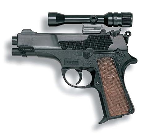 Edison S.P.A - 21922 - Jeu De Tir - Revolver Leopardmatic Avec Télescope 13 Coups - 17,5 Cm