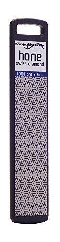 Tools4Boards HONE Ski and Snowboard Diamond Stone (1000 Grit X-Fine), Black Matt by Tools4Boards Grit Diamond Hone