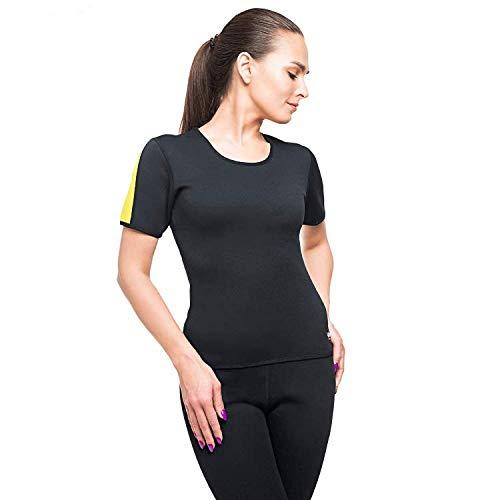 veofit maglietta di sudorazione: camicia dimagrante per donna – tonifica le braccia, la pancia e i fianchi per una pelle più soda e una silhouette affinata taglia xxl